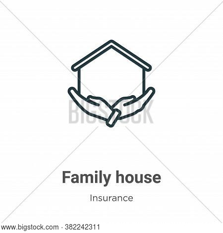 Family house icon isolated on white background from insurance collection. Family house icon trendy a
