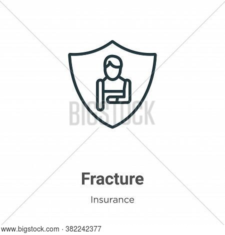 Fracture icon isolated on white background from insurance collection. Fracture icon trendy and moder