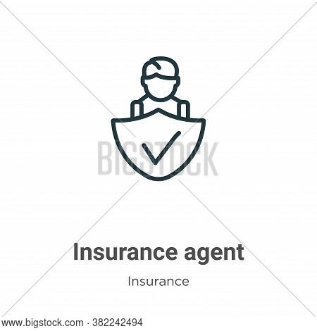 Insurance agent icon isolated on white background from insurance collection. Insurance agent icon tr