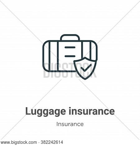 Luggage insurance icon isolated on white background from insurance collection. Luggage insurance ico