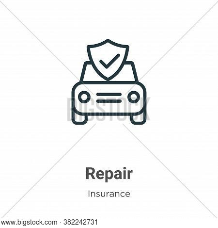 Repair icon isolated on white background from insurance collection. Repair icon trendy and modern Re