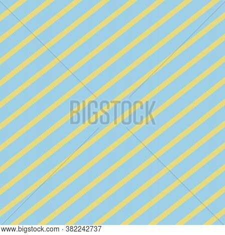 Blue And Yellow Striped Pattern In 12x12 Design Element For Backgrounds.