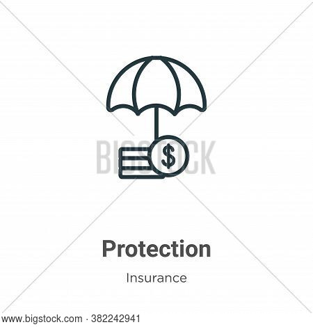 Protection icon isolated on white background from insurance collection. Protection icon trendy and m