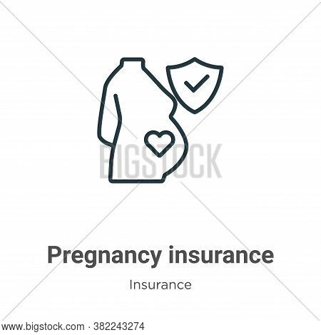 Pregnancy insurance icon isolated on white background from insurance collection. Pregnancy insurance