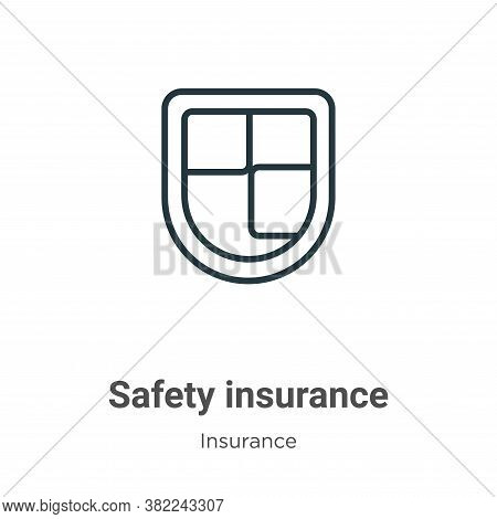 Safety insurance icon isolated on white background from insurance collection. Safety insurance icon