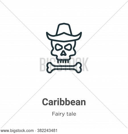 Caribbean icon isolated on white background from fairy tale collection. Caribbean icon trendy and mo