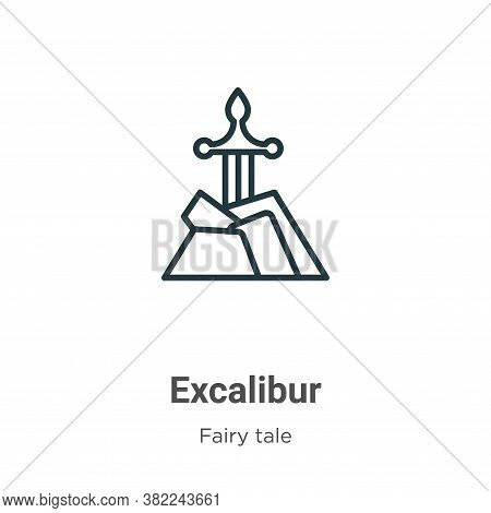Excalibur icon isolated on white background from fairy tale collection. Excalibur icon trendy and mo