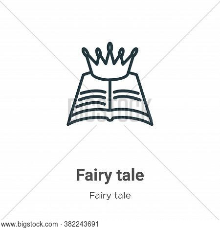 Fairy tale icon isolated on white background from fairy tale collection. Fairy tale icon trendy and