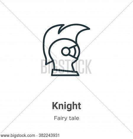 Knight icon isolated on white background from fairy tale collection. Knight icon trendy and modern K