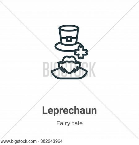 Leprechaun icon isolated on white background from fairy tale collection. Leprechaun icon trendy and
