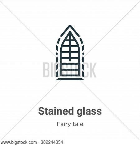 Stained glass icon isolated on white background from fairy tale collection. Stained glass icon trend