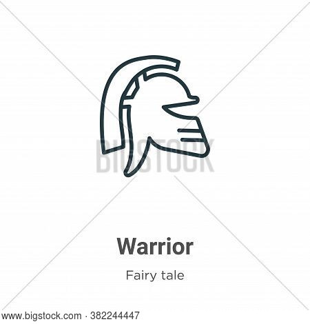 Warrior icon isolated on white background from fairy tale collection. Warrior icon trendy and modern