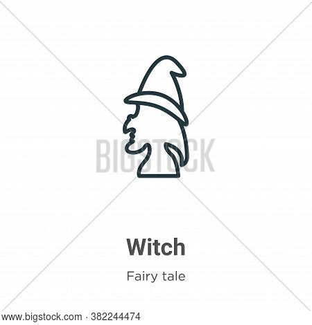 Witch icon isolated on white background from fairy tale collection. Witch icon trendy and modern Wit