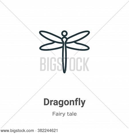 Dragonfly icon isolated on white background from fairy tale collection. Dragonfly icon trendy and mo
