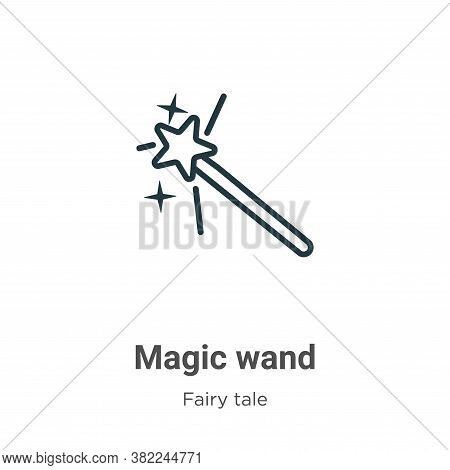 Magic wand icon isolated on white background from fairy tale collection. Magic wand icon trendy and