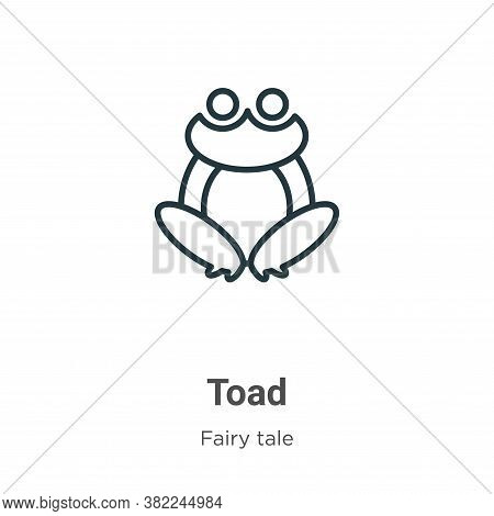 Toad icon isolated on white background from fairy tale collection. Toad icon trendy and modern Toad