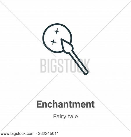 Enchantment Icon From Fairy Tale Collection Isolated On White Background.