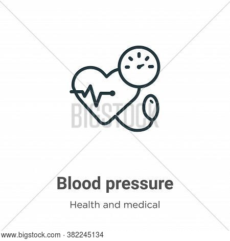 Blood pressure icon isolated on white background from health and medical collection. Blood pressure