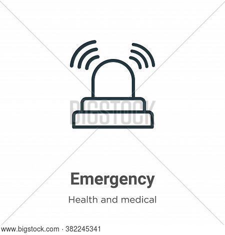 Emergency icon isolated on white background from health and medical collection. Emergency icon trend