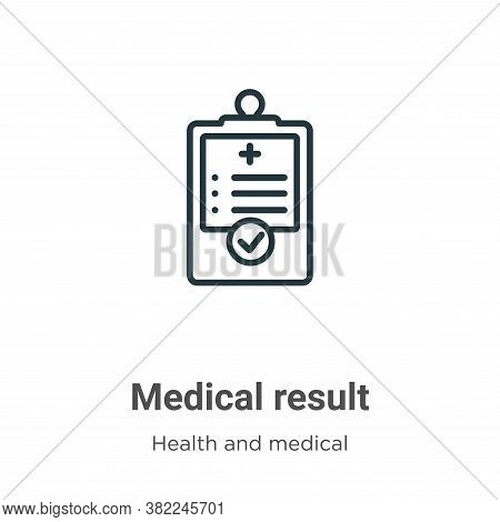 Medical result icon isolated on white background from health and medical collection. Medical result