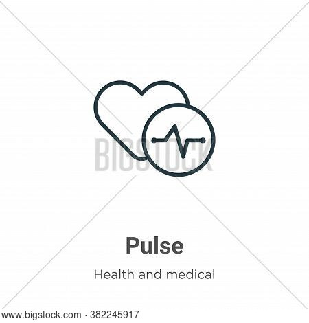 Pulse icon isolated on white background from health and medical collection. Pulse icon trendy and mo
