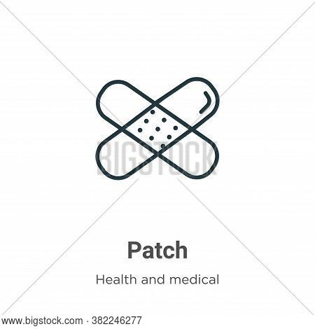 Patch icon isolated on white background from health and medical collection. Patch icon trendy and mo