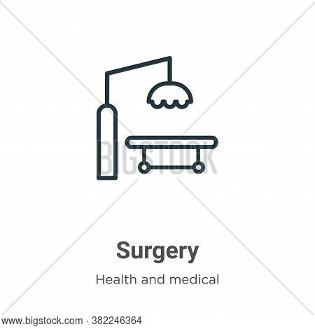 Surgery icon isolated on white background from health and medical collection. Surgery icon trendy an