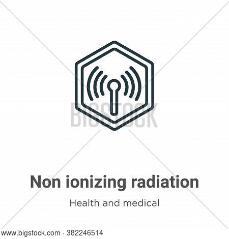 Non ionizing radiation icon isolated on white background from health and medical collection. Non ion