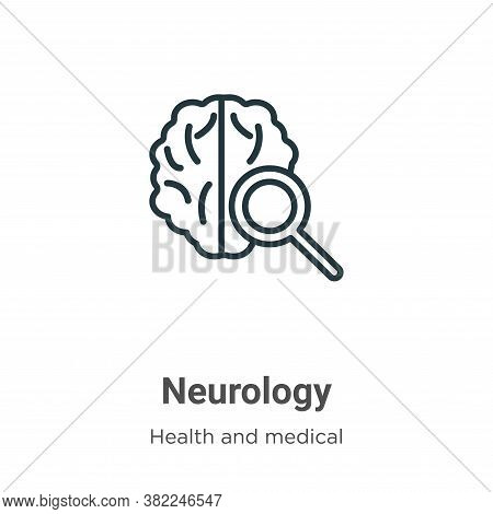 Neurology icon isolated on white background from health and medical collection. Neurology icon trend