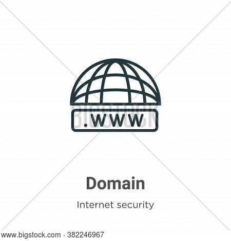 Domain icon isolated on white background from networking collection. Domain icon trendy and modern D