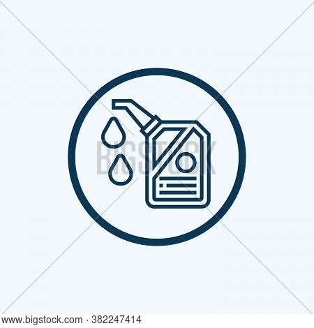 Gasoline Icon Isolated On White Background From Petroleum Collection. Gasoline Icon Trendy And Moder