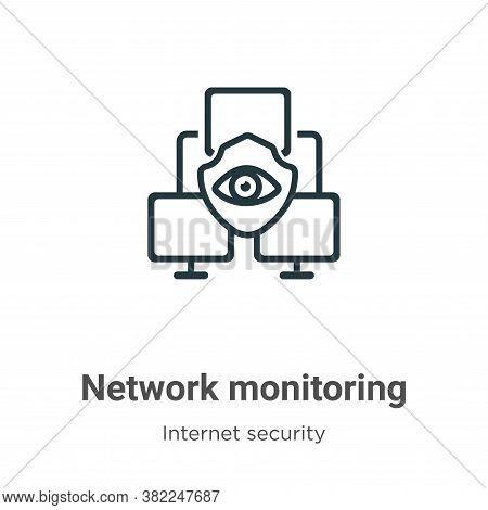 Network monitoring icon isolated on white background from networking collection. Network monitoring