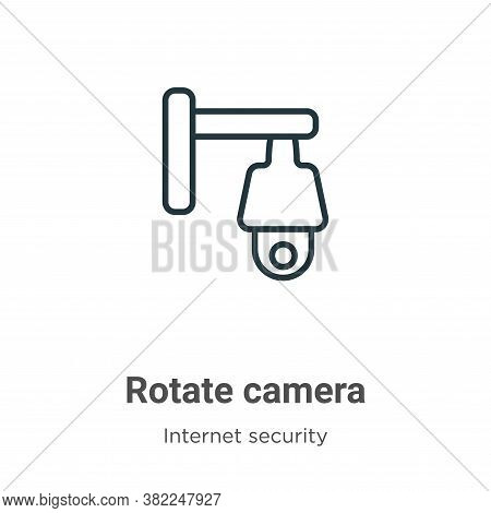 Rotate camera icon isolated on white background from internet security collection. Rotate camera ico