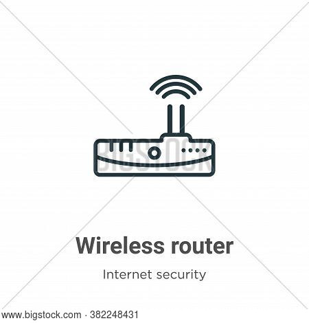 Wireless router icon isolated on white background from networking collection. Wireless router icon t
