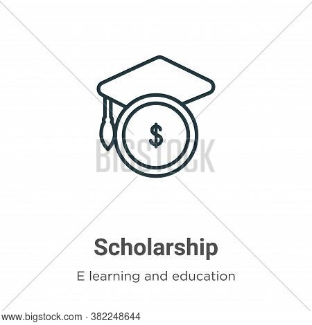 Scholarship icon isolated on white background from e learning and education collection. Scholarship
