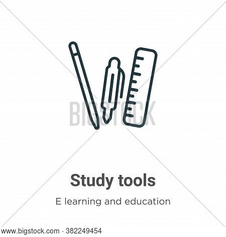 Study tools icon isolated on white background from e learning collection. Study tools icon trendy an