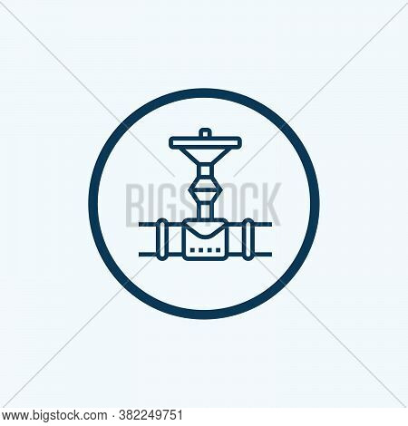 Pipeline Icon Isolated On White Background From Petroleum Collection. Pipeline Icon Trendy And Moder