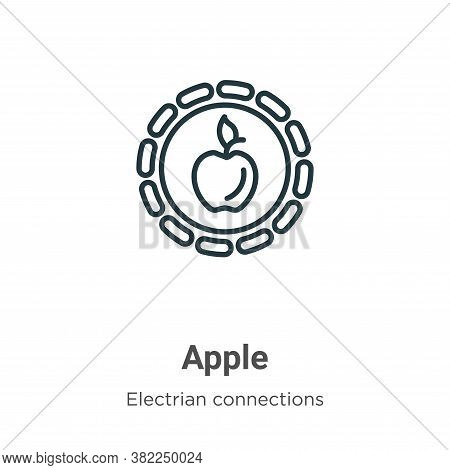 Apple icon isolated on white background from electrian connections collection. Apple icon trendy and