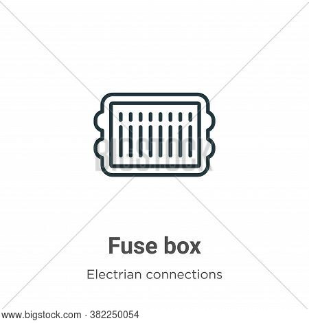 Fuse box icon isolated on white background from electrian connections collection. Fuse box icon tren