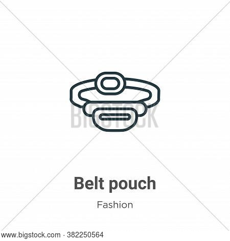 Belt pouch icon isolated on white background from fashion collection. Belt pouch icon trendy and mod