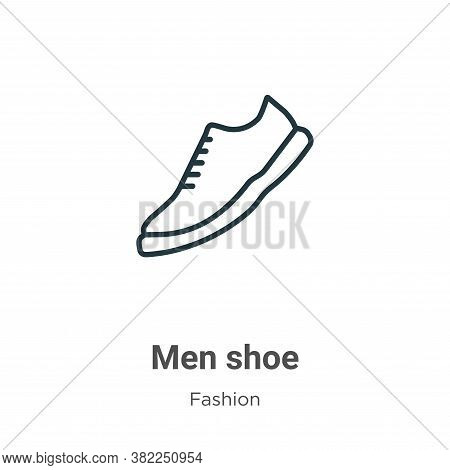 Men shoe icon isolated on white background from fashion collection. Men shoe icon trendy and modern