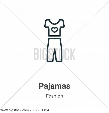 Pajamas icon isolated on white background from fashion collection. Pajamas icon trendy and modern Pa