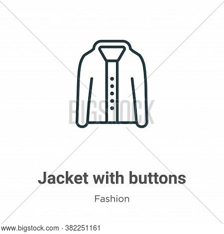 Jacket with buttons icon isolated on white background from fashion collection. Jacket with buttons i