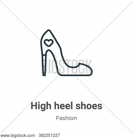 High Heel Shoes Icon From Fashion Collection Isolated On White Background.