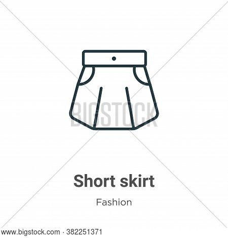 Short skirt icon isolated on white background from fashion collection. Short skirt icon trendy and m