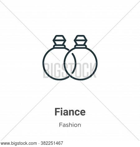 Fiance icon isolated on white background from fashion collection. Fiance icon trendy and modern Fian