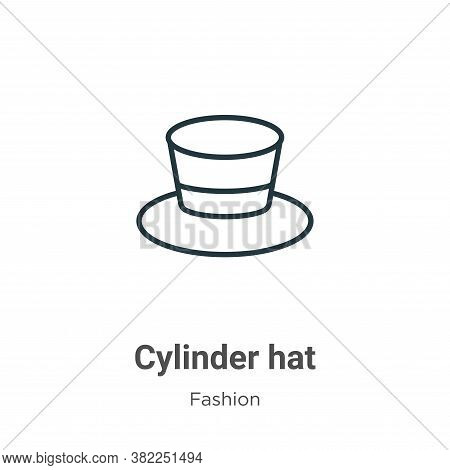 Cylinder hat icon isolated on white background from fashion collection. Cylinder hat icon trendy and
