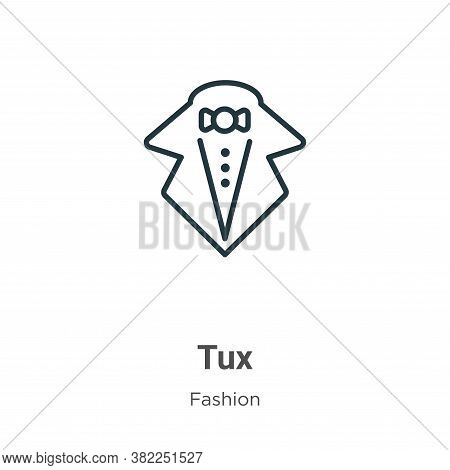 Tux icon isolated on white background from fashion collection. Tux icon trendy and modern Tux symbol