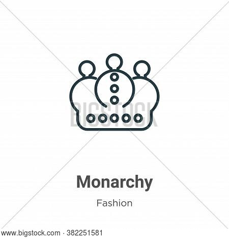 Monarchy icon isolated on white background from fashion collection. Monarchy icon trendy and modern