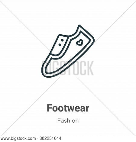 Footwear icon isolated on white background from fashion collection. Footwear icon trendy and modern